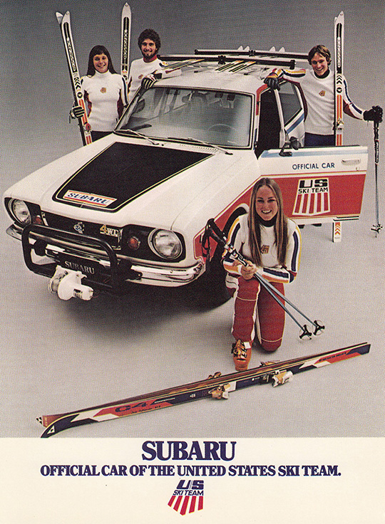 subaru official car us ski team 1977