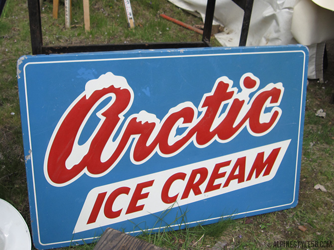 vintage arctic ice cream sign brimfield