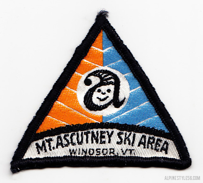 ascutney mountain vermont vintage ski patch