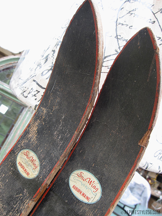 vintage sno wing skis auburn maine brimfield