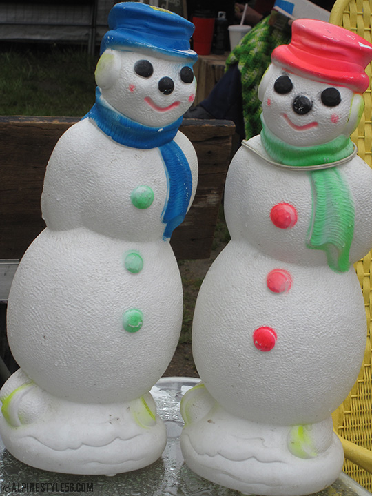 vintage ornamental snowmen brimfield antique show