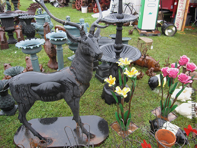 ornamental stag brimfield antique show