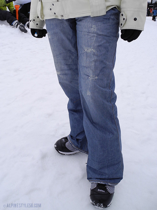 burton snowboard denim pants