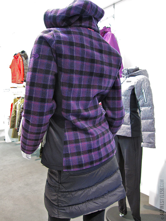 eider down skirt purple