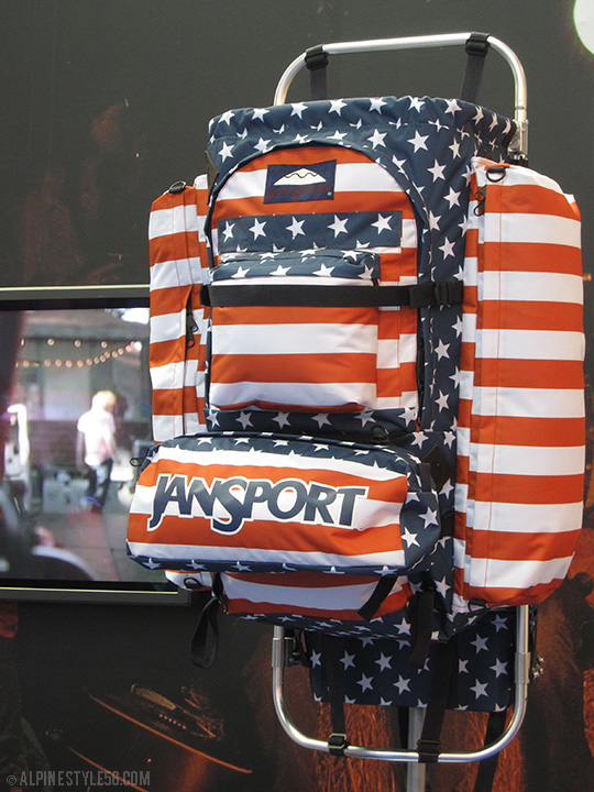 jansport starts stripes americana backpack