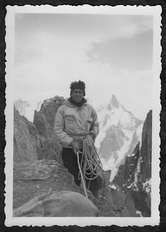 vintage mountaineering climber alps