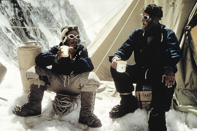 norgay hillary camp everest 1953
