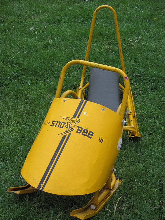 sno bee sled yellow