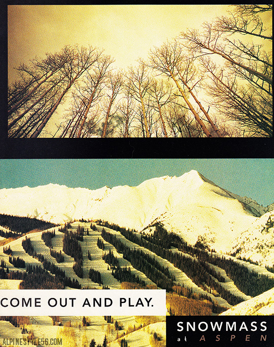 snowmass aspen colorado ski ad 1993 vintage come out play