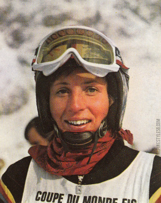 christa zechmeister germany ski racer 1976