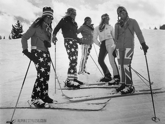 vintage ski fashion us uk flags stars stripes 1970