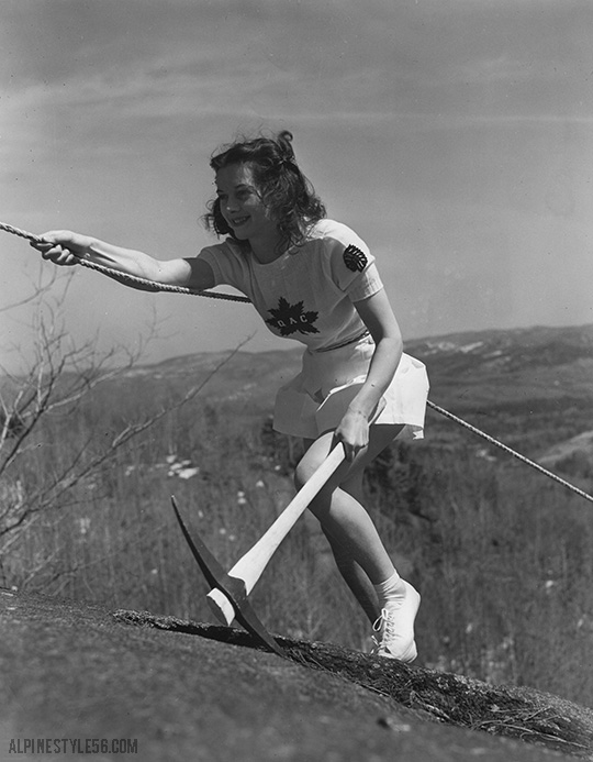 quebec alpine club girl laurentian mountain climb