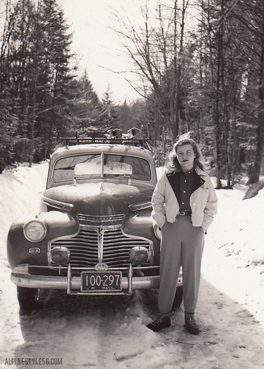 vintage chevrolet car ski massachusetts 1941