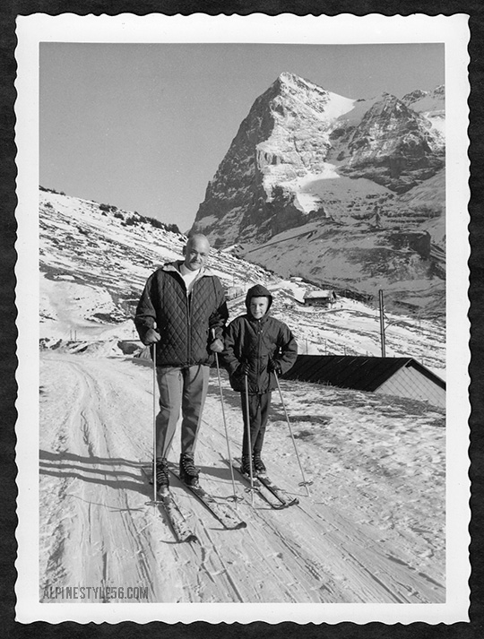 wengen switzerland ski father son vintage