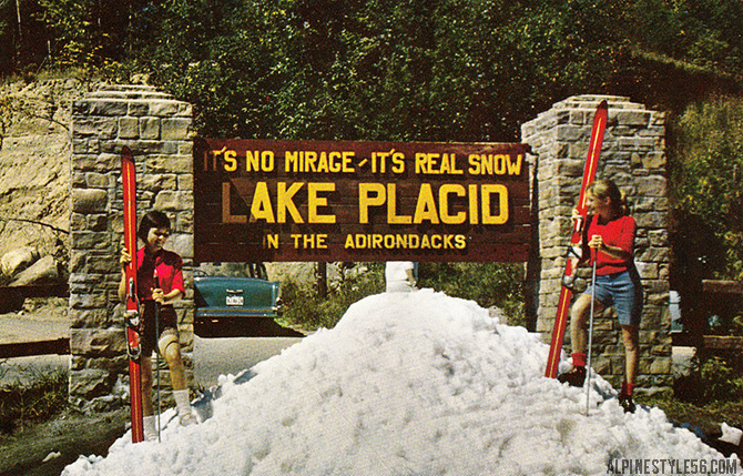 lake placid new york snow ski summer vintage