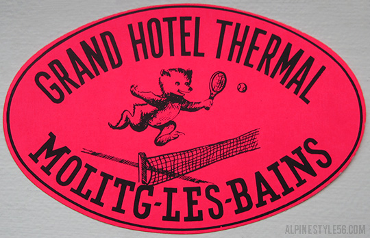 molitg les bains france pyrenees grand hotel thermal pyrenees vintage luggage label