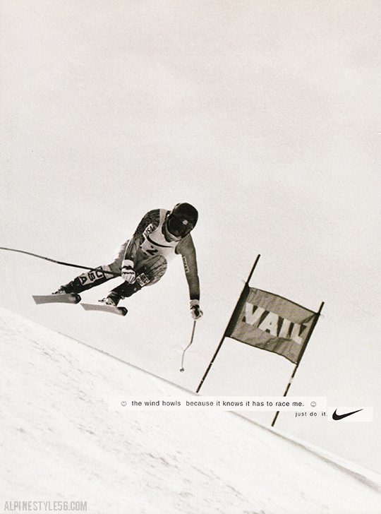 picabo street downhill ski racer nike just do it ad vintage