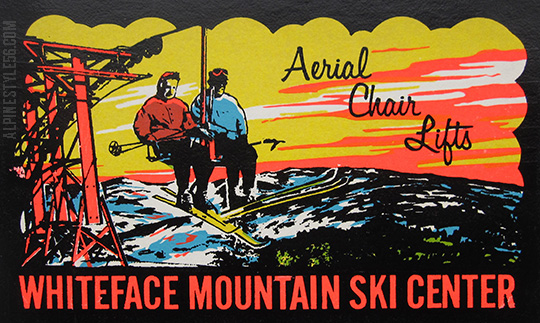 vintage whiteface new york ski chair lift lake placid