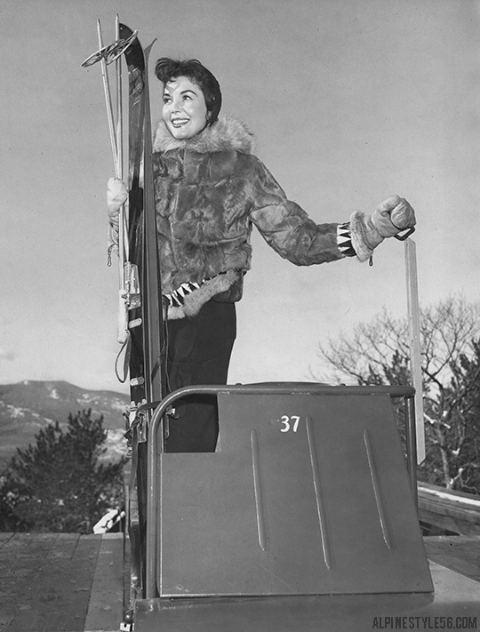 model irehne hennessey cranmore ski mobile north conway new hampshire 1960