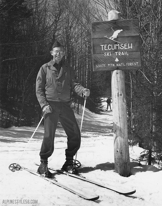 tecumseh ski trail new hampshire white mountain national forest vintage