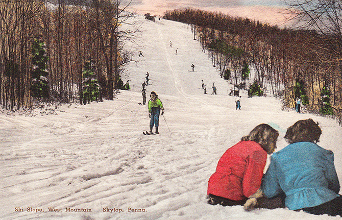 ski west mountain skytop pennsylvania poconos vintage