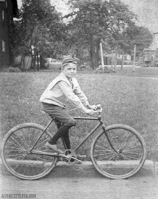 vintage photo boy bike bicycle
