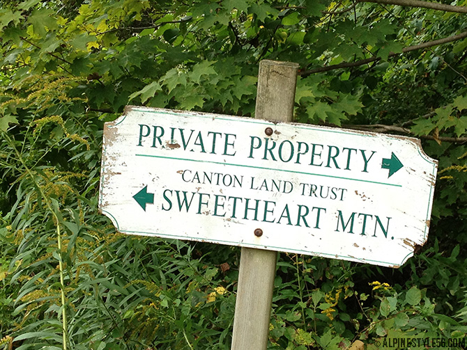 sweetheart mountain hiking trails canton land trust ski