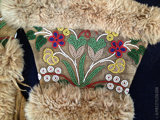 native american athabaskan athabascan glove leather beading flowers fu