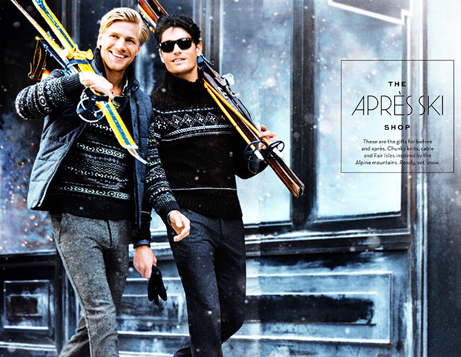 banana republic apres ski collection men holiday 2013