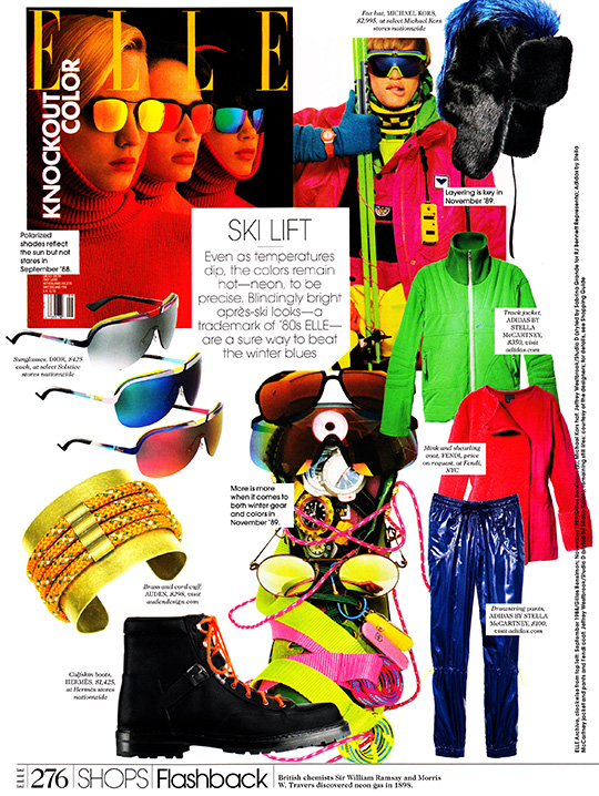 elle magazine october 2013 ski lift néon apres flashback