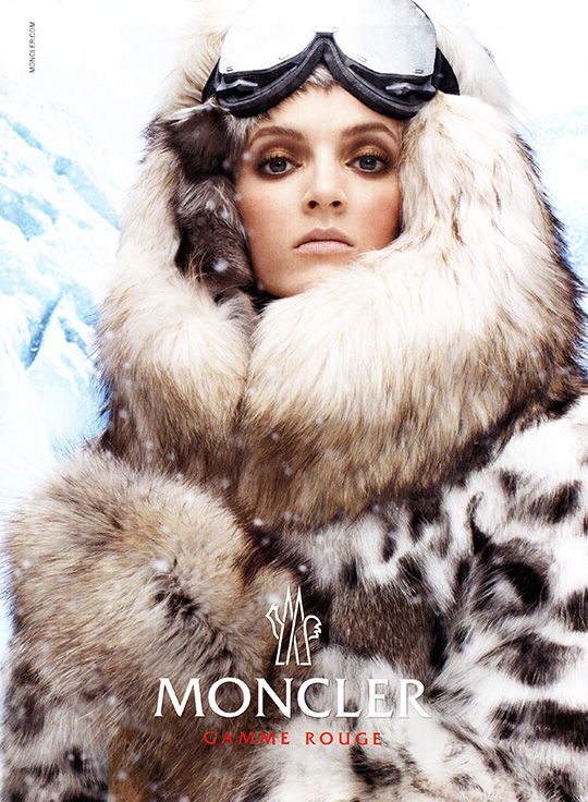 moncler gamme rouge ad ski snow 2013