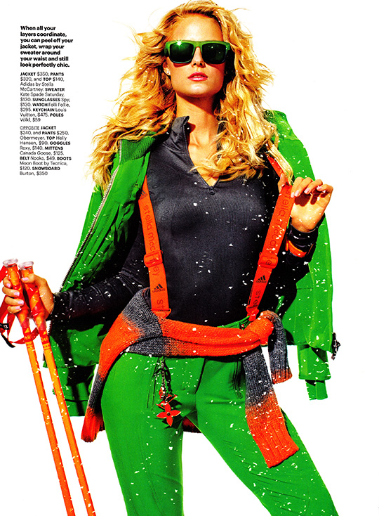 self magazine november 2013 snow hot ski skier kate bock