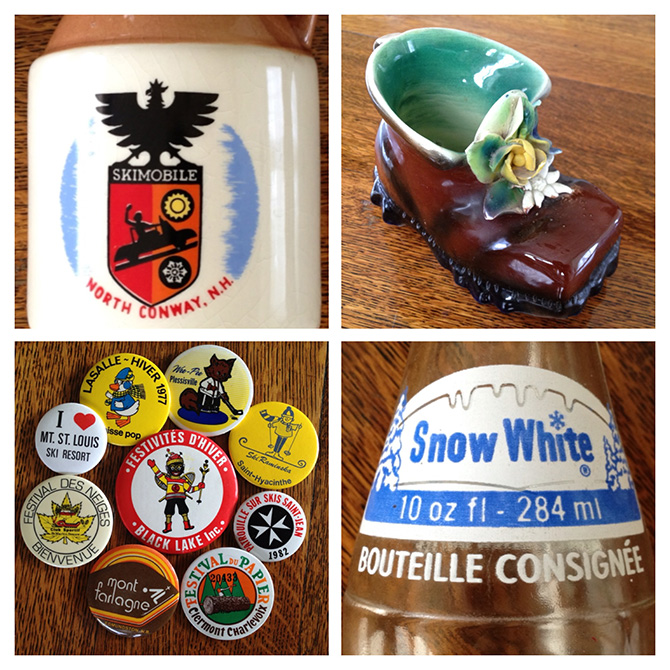 quebec ski alpine antiques cranmore skimobile snow white soda