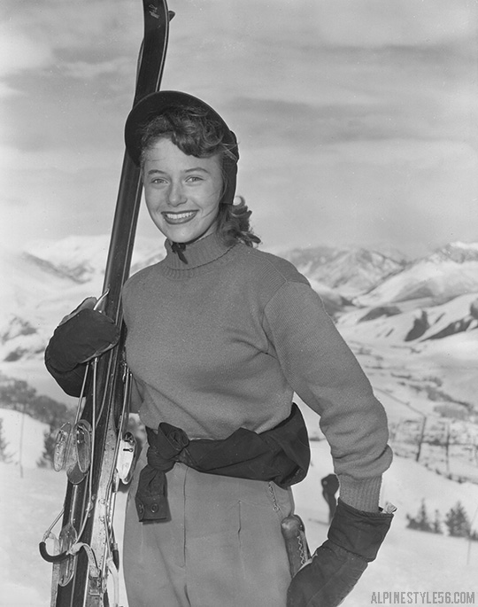 suzy harris rytting us ski team baby 1952