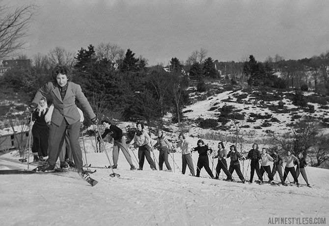 university new hampshire ski class women 1943
