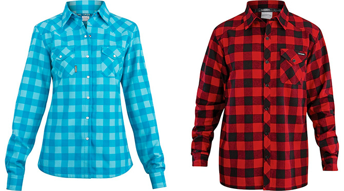 Dakine offers a performance flannel shirt of polyester with a brushed cotton-hand feel   truly more appropriate for snowsport layering than cotton