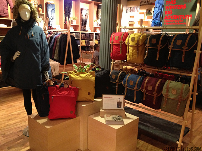 fjallraven shop soho greene street outdoor sweden