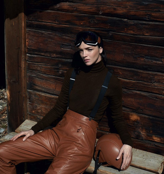 hermes ski winter 2013 cookbook leather pants helmet