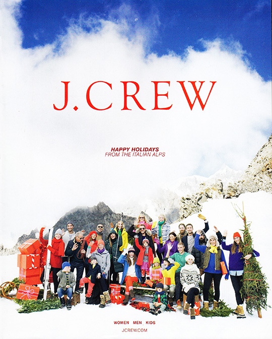 jcrew style guide december ski snow italian alps