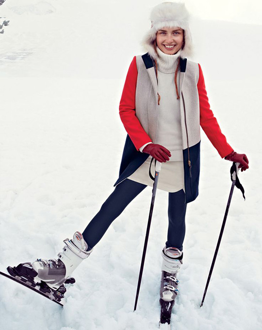 jcrew style guide december 2013 zermatt switzerland ski snow trapper hat