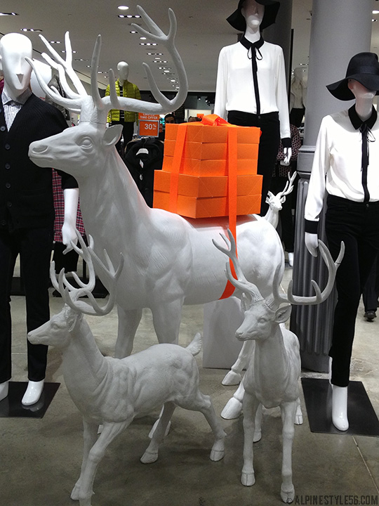 joe fresh store shop holiday 2013 merchandising deer stag