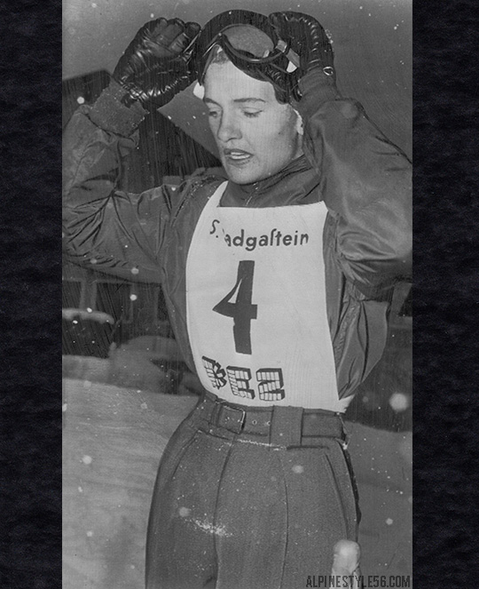 andrea mead lawrence ski racer bad gastein austria 1952 winner giant slalom