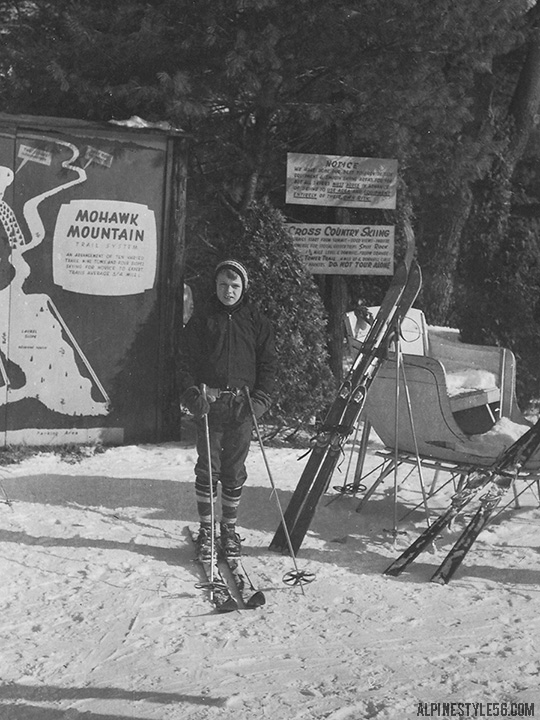 mohawk mountain connecticut ski area 1957 vintage