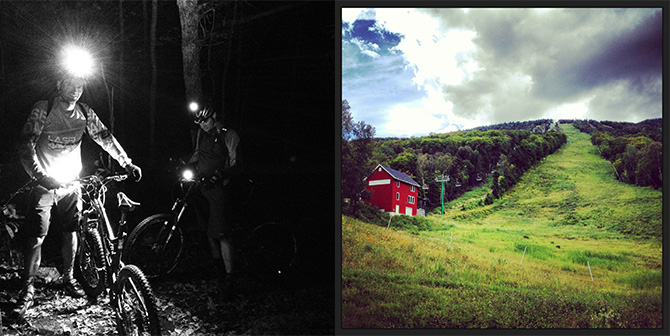 night mountain bike ride warrens way ski race trail burke vermont