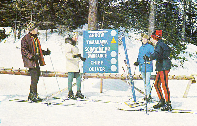 okemo mountain vermont ludlow ski vintage family arrow tomahawk chief
