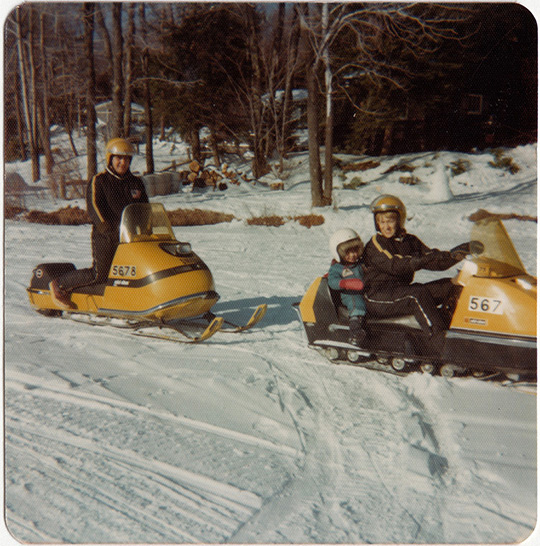 otis massachusetts vintage ski doo snowmobile lake