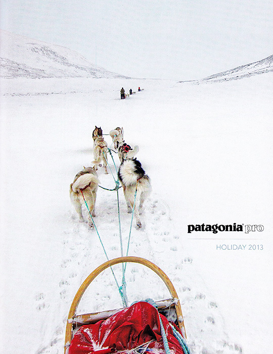 patagonia holiday catalog 2013 lars schneider dogsled norway dividal national park
