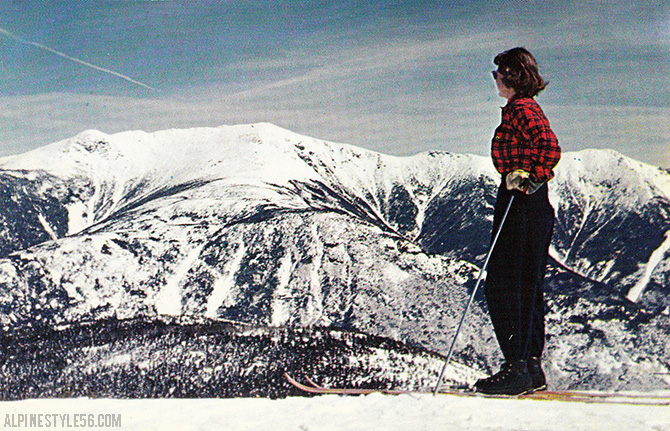 ski cannon mountain new hampshire franconia notch vintage postcard