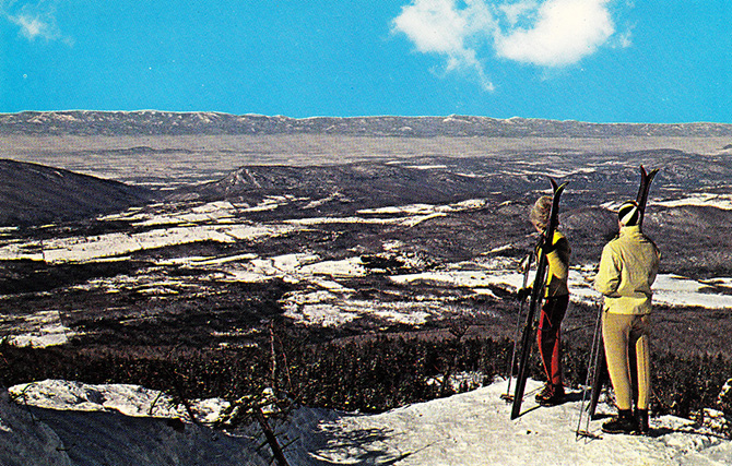 sugarbush valley warren vermont ski vintage postcard