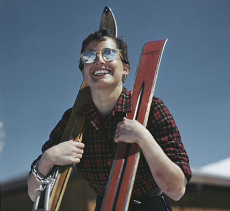 robert capa photographer skier zermatt switzerland 1950 color